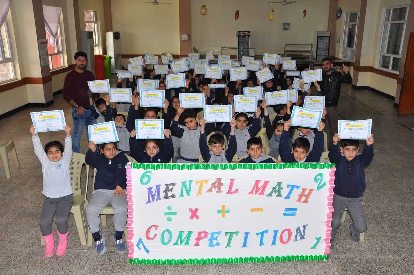 Kalar Hosts Mental Math Competition for Students in Grades 3 and 4