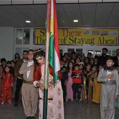 KALAR INTERNATIONAL SCHOOL CELEBRATE KURDISH FLAG DAY